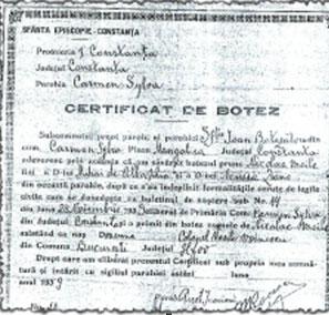 Copie Certificat de Botez
