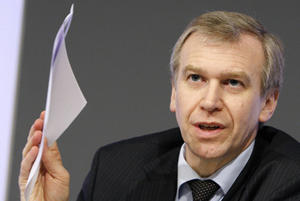 Belgium's Prime Minister Yves Leterme addresses a news conference in Brussels